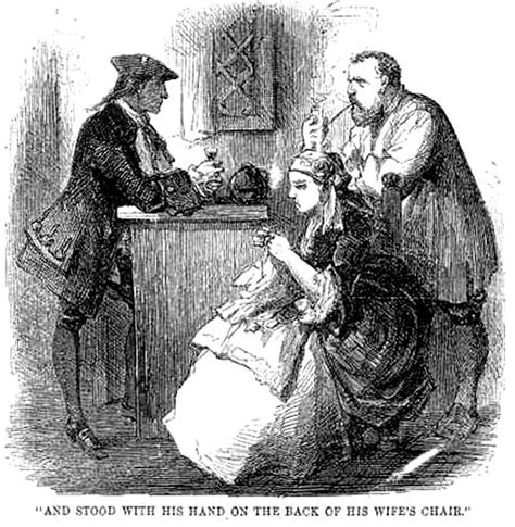knitting in tale of two cities quot defarge quot by harry furniss fifth illustration for quot a