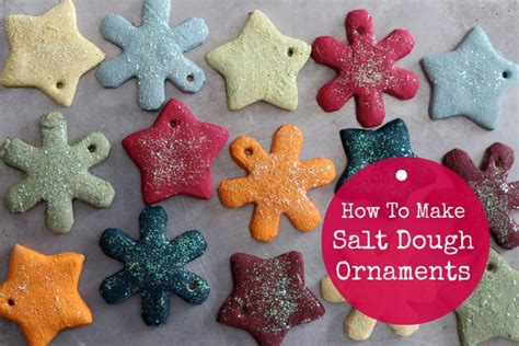 how to make ornaments out of salt dough ornament recipe