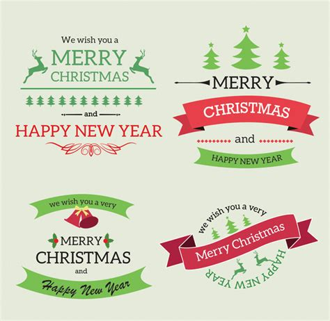 christmas vintage labels amp ribbons free psd graphics