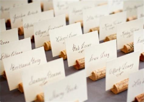 how to make wedding place cards cork place card holders bridaltweet wedding forum