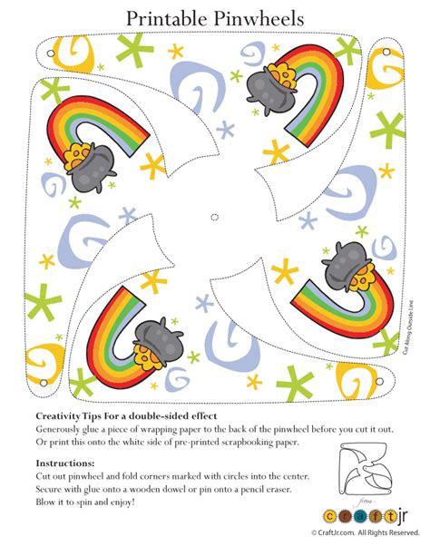 printable kid crafts pot of gold pinwheel craft woo jr activities