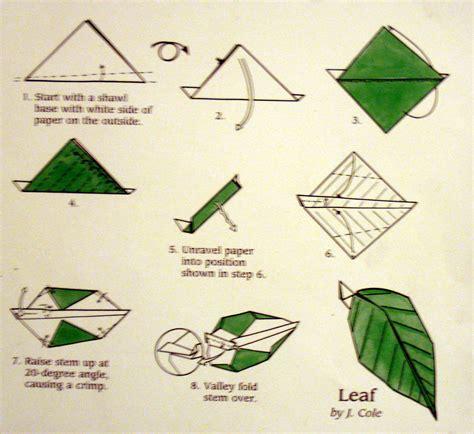 origami with leaf leaf major project design