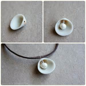 how to make jewelry from seashells diy pearl in shell necklace diary of a mad crafter
