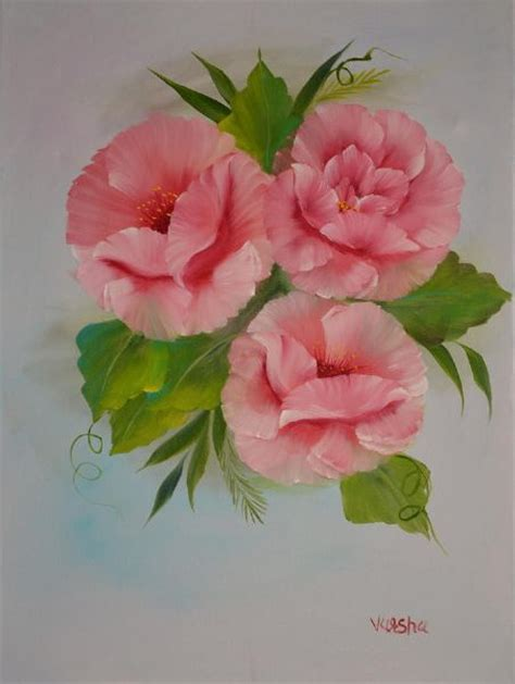 Bob Ross Pink Roses Paintings For Sale Bob Ross Pink Roses