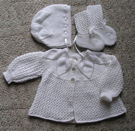 baby sets knitting patterns image newborn sweater set knitting pattern