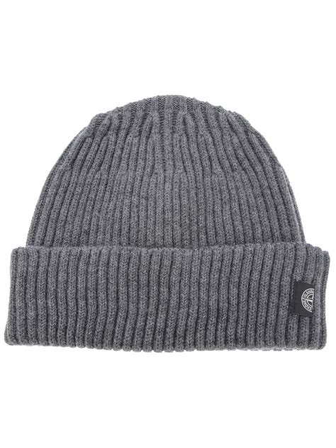 grey knit hat island ribbed knit beanie hat in gray for grey