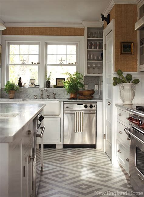 painted kitchen floors geometric painted floor contemporary kitchen new