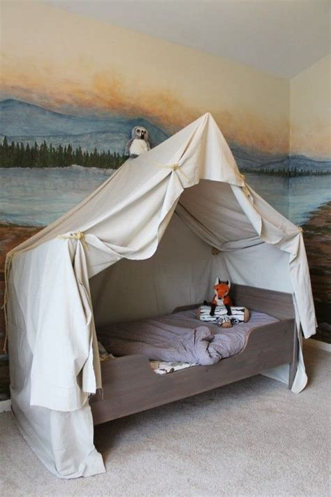 boys bed tent cing tent bed in a kid s woodland bedroom cool walls
