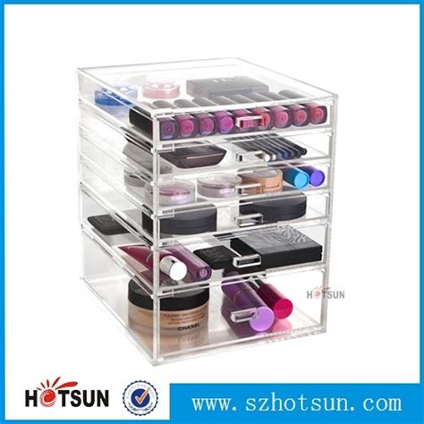 acrylic wholesale 12 years factory wholesale clear 6 drawer acrylic