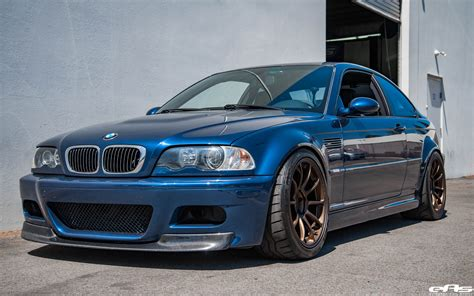 Bmw E46 by A Mystic Blue Bmw E46 M3 Gets Aftermarket Goodies At