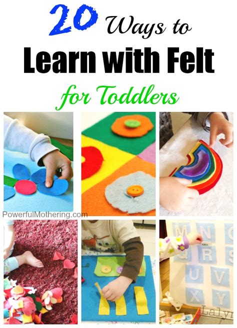 learning crafts for 20 ways to learn with felt for toddlers