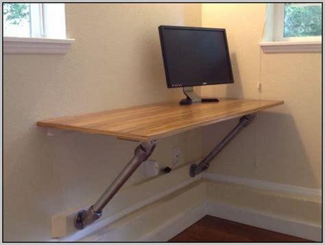 wall mounted computer desk diy desk home design ideas
