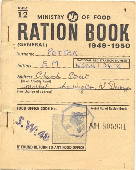 pictures of ration books world war 2 market lavington museum page 2