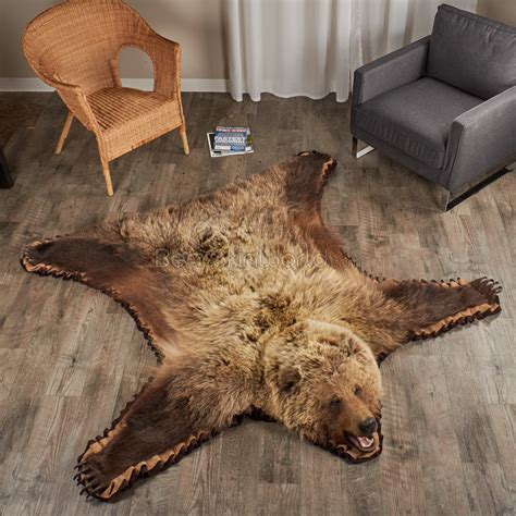 6 foot rugs 6 foot 0 inch 183 cm grizzly rug 7000652 02