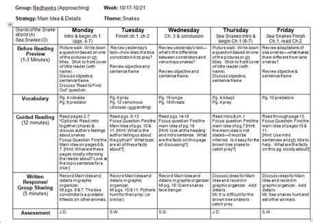 fountas and pinnell guided reading template search