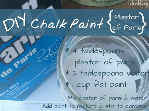 diy chalk paint using plaster of the best diy chalk paint recipe refresh living