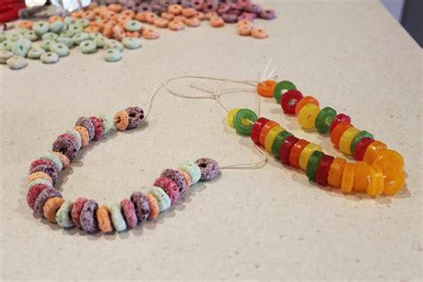 edible crafts edible necklaces my kid craft