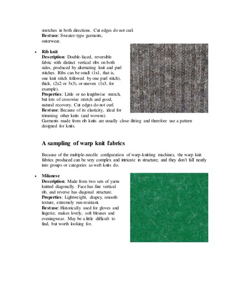 warp knitting definition types of knitted fabric