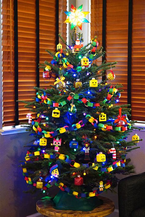 themed ornaments lego themed tree happiness is