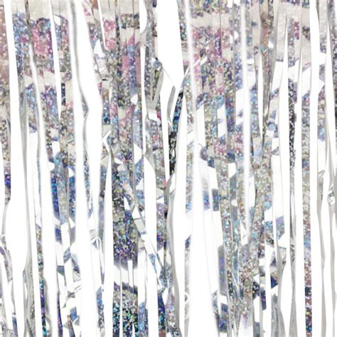 icicle tinsel holographic tinsel icicle garland silver
