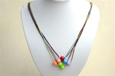 to make beaded jewelry diy necklace ideas how to make a string bead necklace