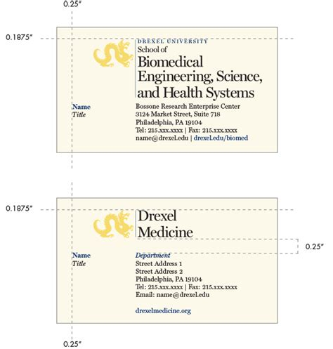 names for card business colleges schools stationery identity drexel