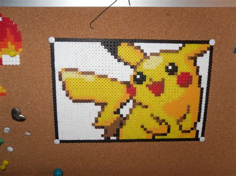 pikachu perler pikachu perler thingy done by dylrocks95 on deviantart