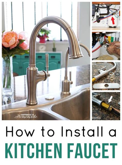 how to install a kitchen faucet how to install a kitchen faucet happiness is