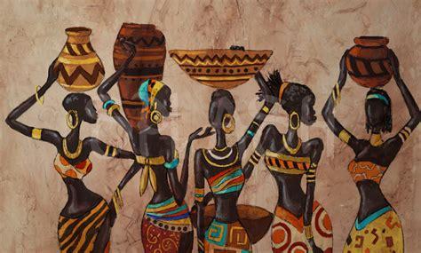 cuadros 201 tnicos africanos mujeres vasijas para salones y - Cuadros Etnicos Mujeres Africanas