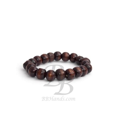 brown bead bracelet brown wood bead bracelet