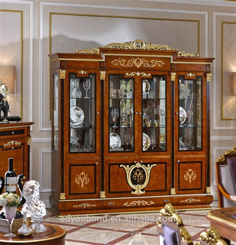Dining Room Showcase Design Wooden Showcase Design For Dining Room 0038 European Neo