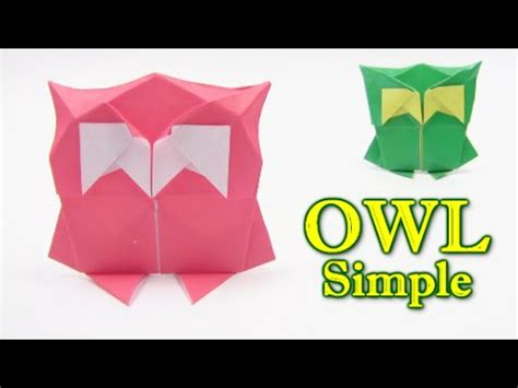 owl origami easy origami simple owl by yann mouget origami easy tutorial