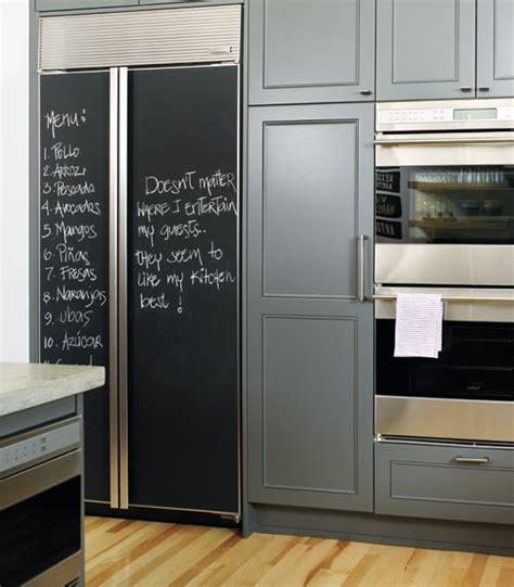 chalkboard paint in fridge diy chalkboard refrigerator panels made easy