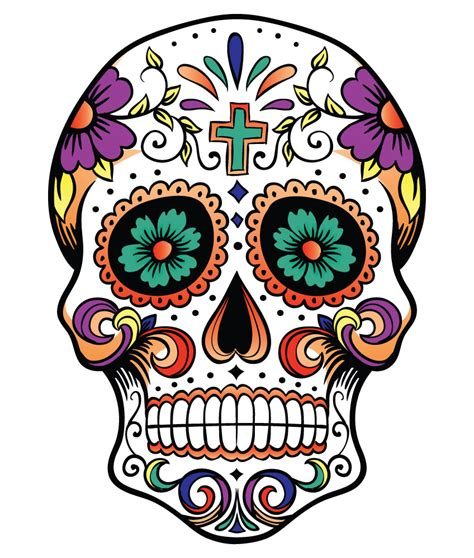 for sugar skull skulls cliparts