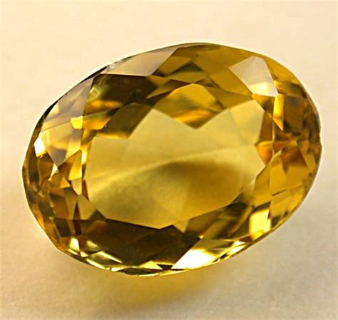 faceted gemstone golden beryl gemstone vintage faceted oval 5 31cts