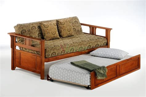 furniture modern brown wood full size daybed with 3