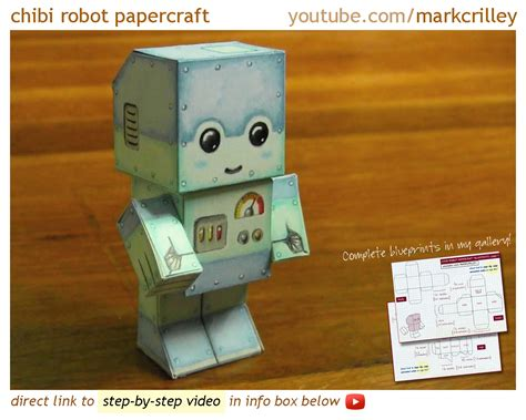 how do you craft paper chibi robot papercraft by markcrilley on deviantart