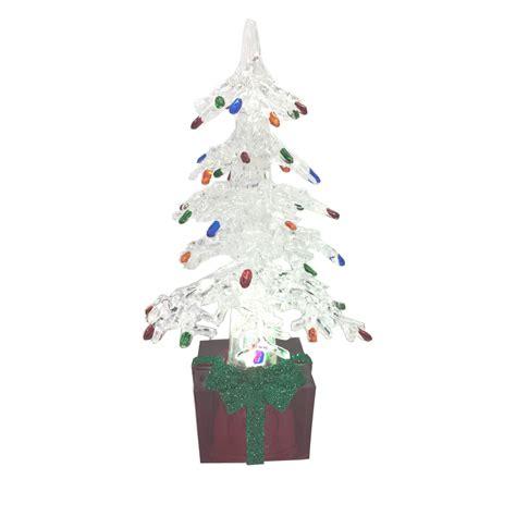 mini white tree trim a home 174 6in led light up mini white tree