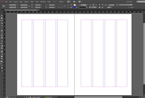 free indesign a5 4 column grid template crs indesign