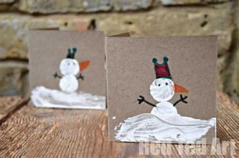 snowman cards to make cork print snowman cards ted s