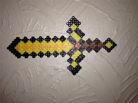 gold perler 273 best images about minecraft on perler bead