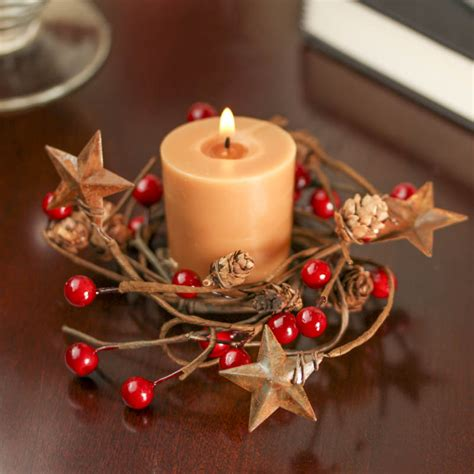 candle ring tin and berry candle ring