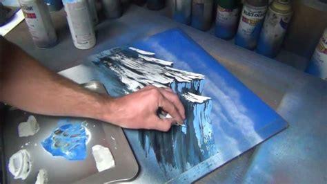 spray paint tutorial mountain tutorial part 1 of 2 spray paint