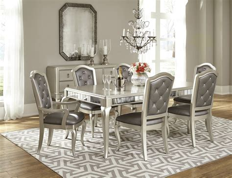 dining room collection furniture dining room set in platinum bling by samuel