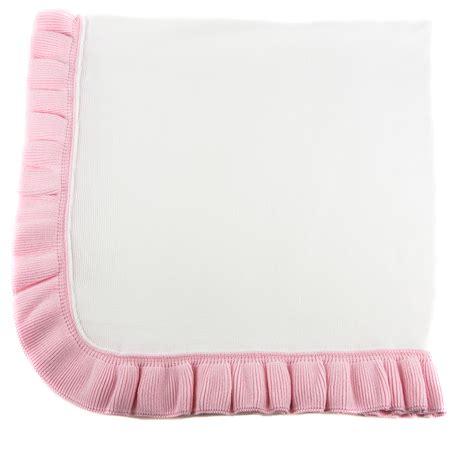 jersey knit blanket jersey knit ruffle blanket pink