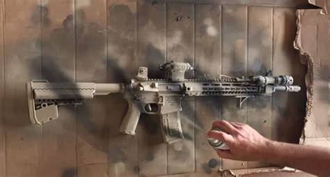 spray painting your ar15 time lapse footage shows ar 15 paint wide