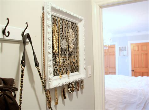 how to make jewelry holder picture frame diy vintage frame jewelry organizer 346 living