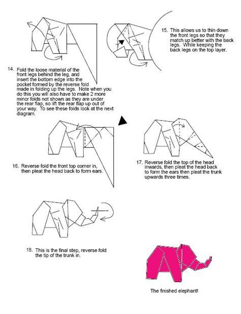 origami elephant diagram elephant 1 pink elephant origami diagrams origami