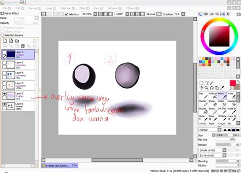 paint tool sai 2 deviantart paint tool sai simple painting tutorial 2 by prime512