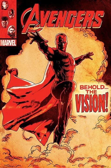 poster quadro age of ultron behold the vision